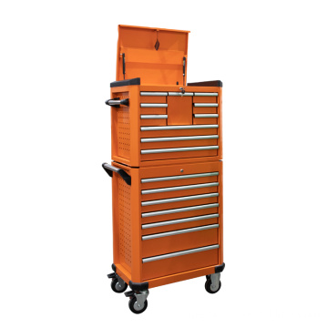 Orange Professional Metal Top Truhe und Rollschrank